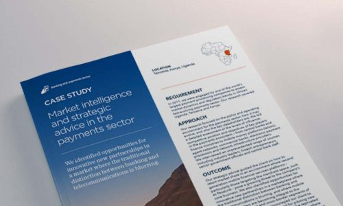 Market intelligence and strategic advice in the payments sector